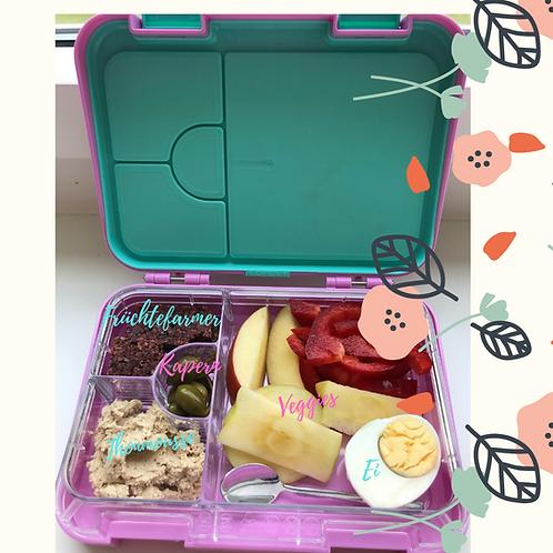 Elephant Box - BPA freie, robuste Znünibox - türkis/lila