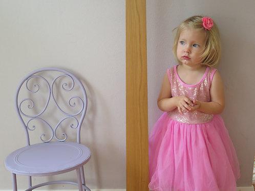 Tanzkleid / Mädchenkleid Paillette - pink