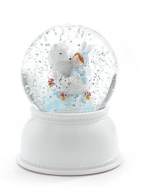 Schneekugellampe Lila & Pupi mit Timer