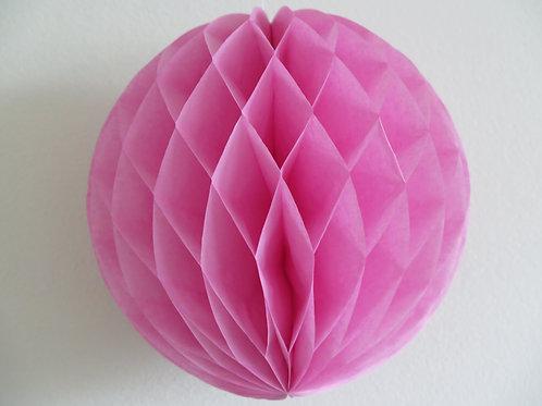 Hochwertiger Wabenball aus Seidenpapier - rosa