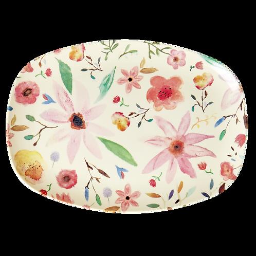 Wunderschöne Platte - helle Blumen