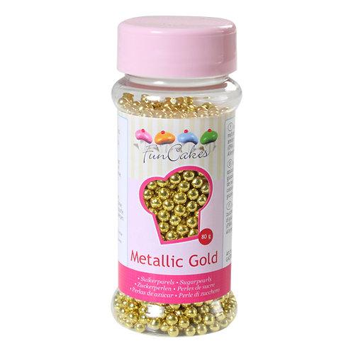 Gold metallic Perlen 80 g von Funcakes
