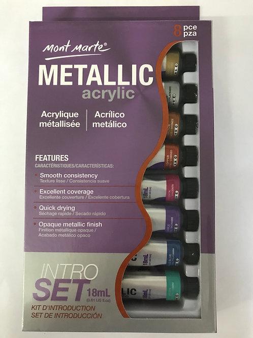 Metallic Paint - 8 Tuben hochwertige Farbe