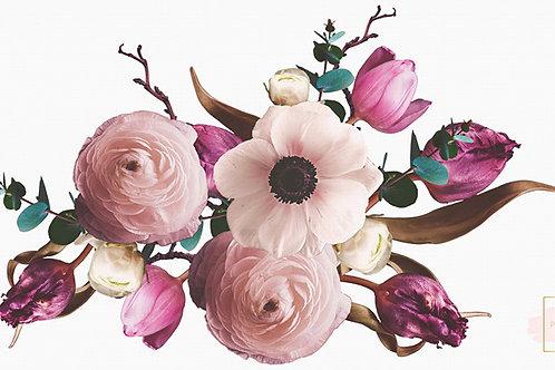 Wandsticker Blumen 55 cm x 100 cm
