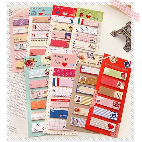 Beschriftbare Post-its - 6 verschiedene pro Pack
