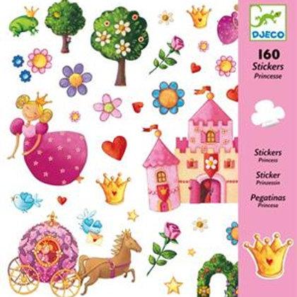 Sticker-Set - 160 Sticker - Prinzessin
