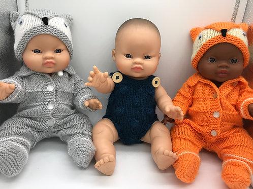 Puppe von Paola Reina inkl. handgemachten Kleidern