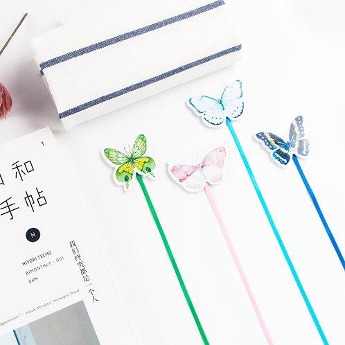 1 magnetisches Buchzeichen mit Schmetterling