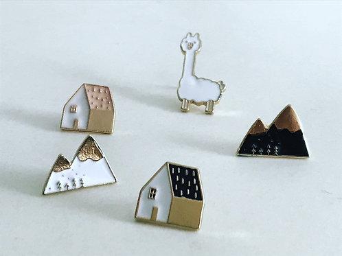 kleine Emaille - Pins