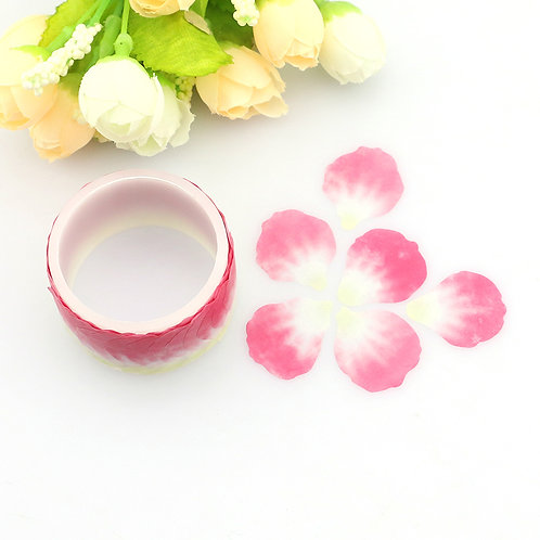 100 filigrane Washi-Blütenblätter auf Rolle