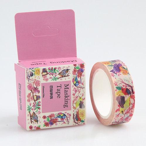 Masking Tape Vögelchen  in pinker Box