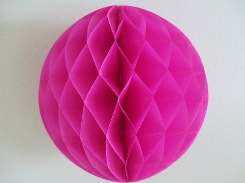 Hochwertiger Wabenball aus Seidenpapier - pink