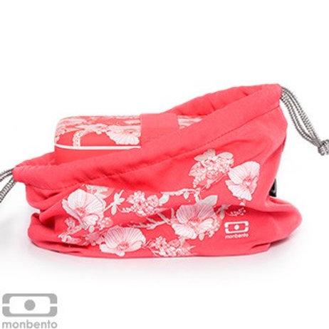 Tasche für die Bentobox  - rot geblümt