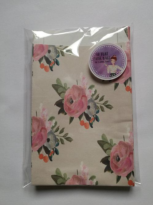 "12er Set Papiertüten ""Blumenmeer"""