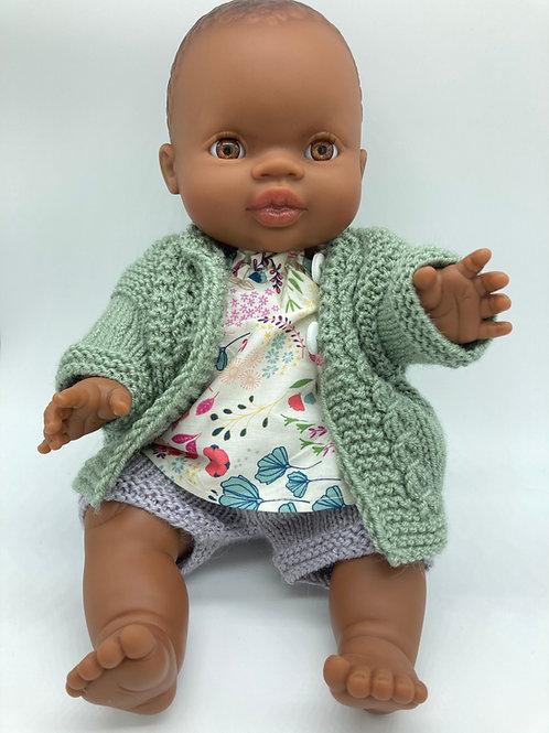 Puppen Mädchen von Paola Reina inkl. 3 teiligem Outfit