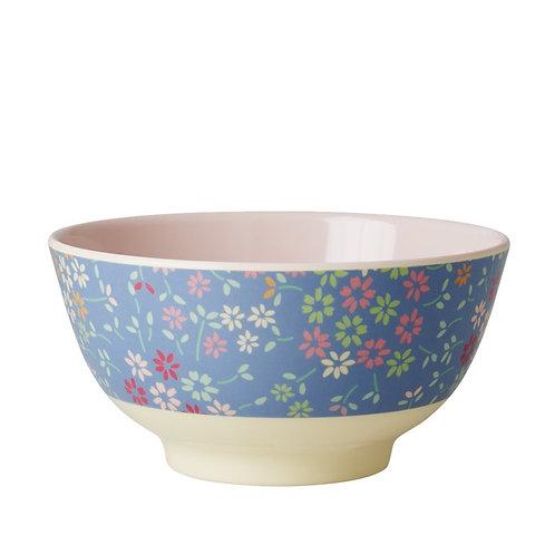 Hübsche Frühstücksschale - Wilde Blumen blau