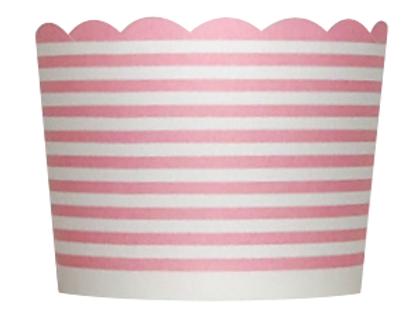 Backförmchen Feine Streifen 20 Stück - pink