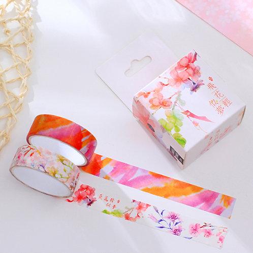 2er Set Masking Tapes mit Blumenmotiv