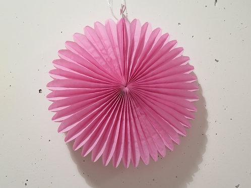 Rosette aus Seidenpapier - pink