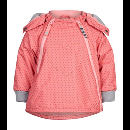 Tolle Outdoor/ Regenjacke  - Punkte pink