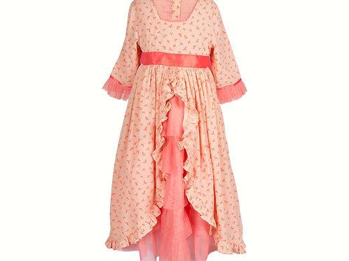 MAILEG - Burgprinzessinnen Kleid  -corall farbig