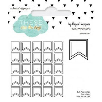 25 Paper Clips - Flag Schwarz