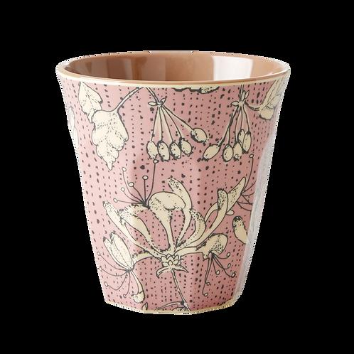 Grosser Becher - rosa Blüten