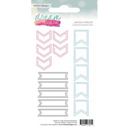 15 Paper Clips - gemischt pink/blau/grau