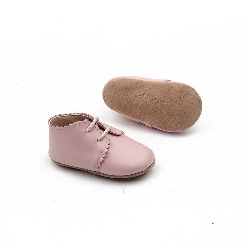 Festliche Lederschuhe für Babies -  rosa