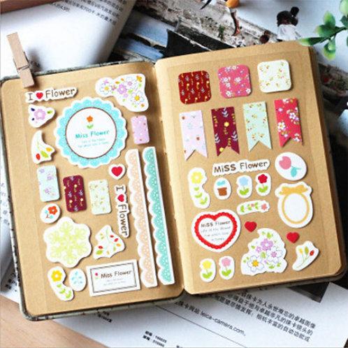 3 Blätter mit Stickern für Agenden etc