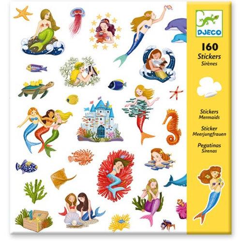 Sticker-Set - 160 Sticker - Meerjungfrauen