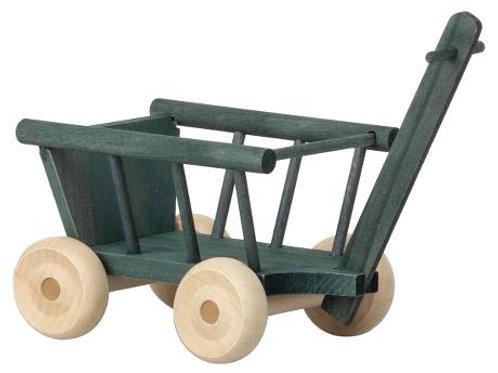 Leiterwagen petrol aus Holz