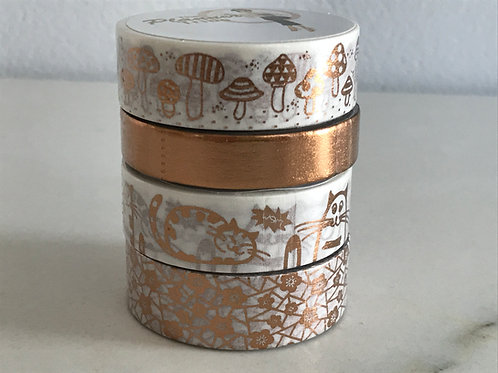 """4er Set Washitapes Edition """"Rotgold Luxe"""""""