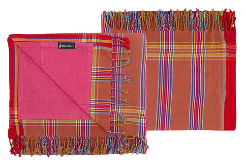 Wunderschönes Strandtuch - Innen Pink mit Streifen - KT1505