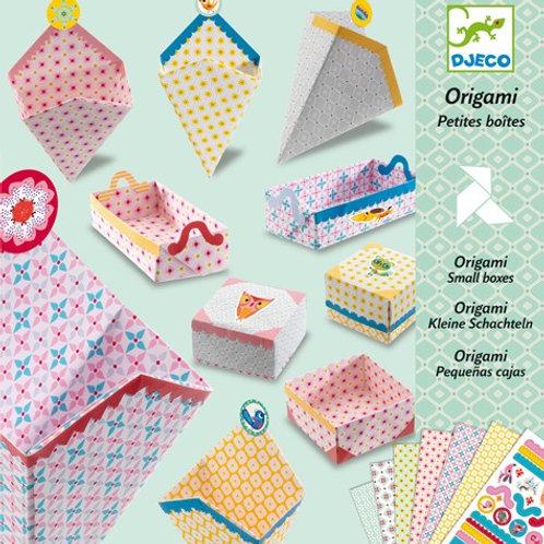 Origami kleine Boxen