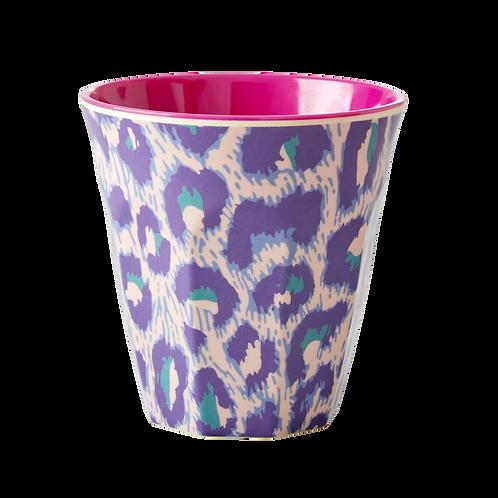 Grosser Becher - Leopard violett