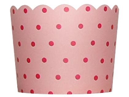 Backförmchen Pünktchen 20 Stück - rosa