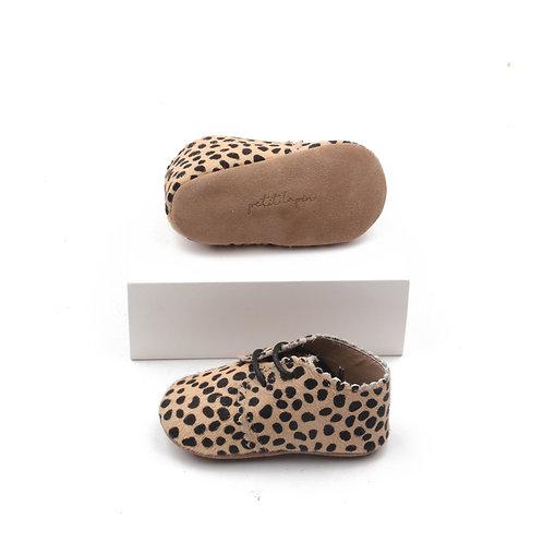 Festliche Lederschuhe für Babies - Leopardenmädchen