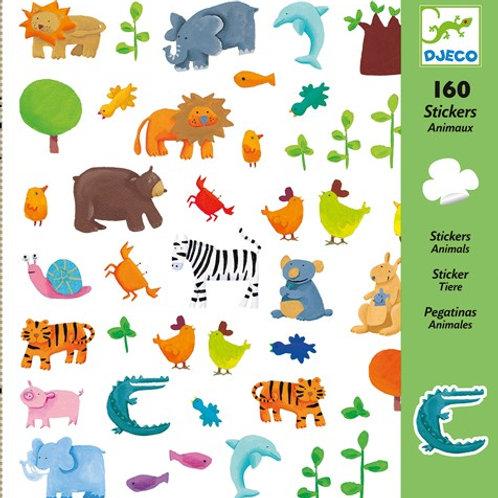 Sticker-Set - 160 Sticker - Tiere