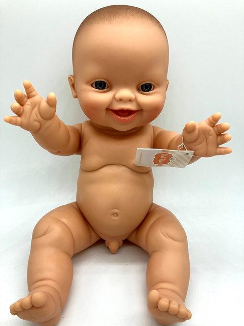 Puppenjunge von Paola Reina mit lachendem Gesicht und blauen Augen