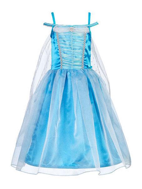 Souza - Prinzessinnen-Kostüm blau mit Reif - 5-7 J