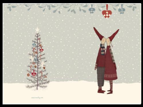 Doppel- Weihnachtskarte von Maileg mit Umschlag