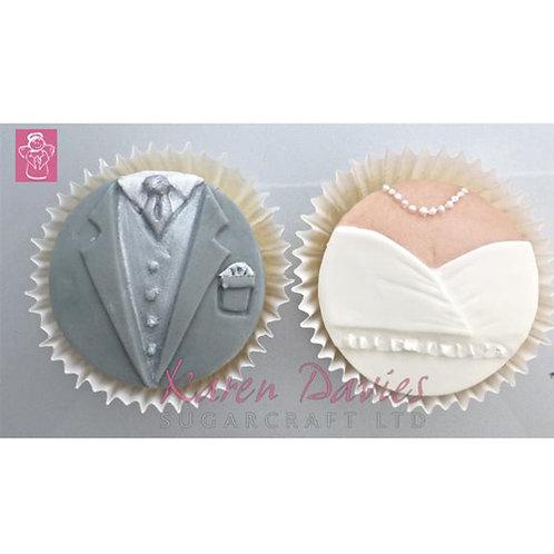Silikonform für Hochzeitspaar Cupcakes - 2er Set