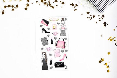 Fashion Girl Sticker - handgemachte Stickers