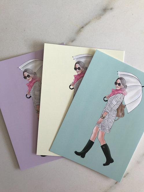 """Candy Postkarte """"Regentag"""""""