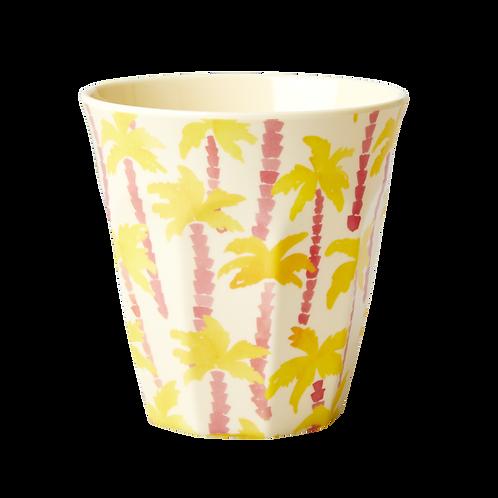 Grosser Becher - gelbe Palmen