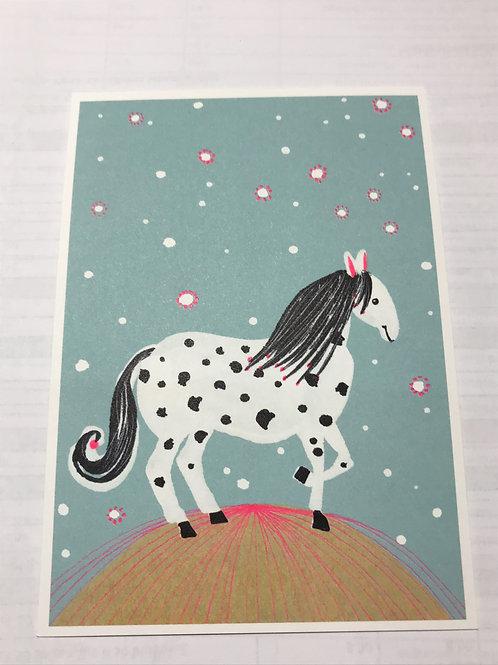 Postkarte Pferd
