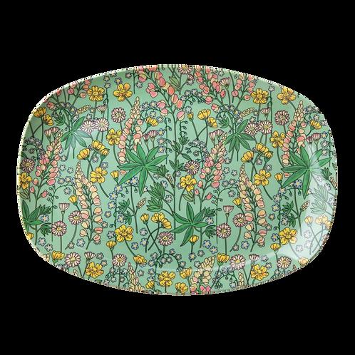 Wunderschöne Platte - Lupine Blumenmuster