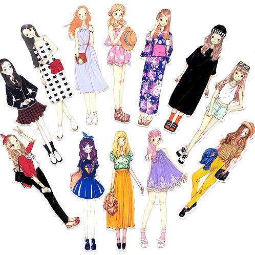 Süsse Stickers - Girls Serie 2 - 12 Stück