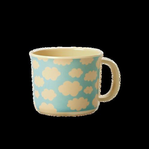 Tasse mit Henkel - Wolken blau